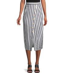 bb dakota women's with a twist striped skirt - navy stripe - size 2