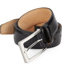 saks fifth avenue made in italy men's leather belt - black - size 42