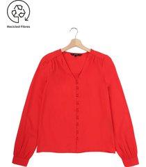 blusa coral vero moda