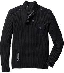 maglione slim fit (nero) - rainbow