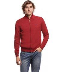 sweater zipper basico rojo ferouch