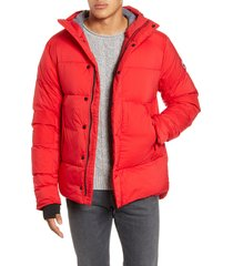 men's canada goose armstrong 750 fill power down jacket, size small - red