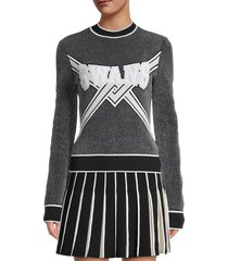 off-white women's swans graphic sweater - black - size 42 (6)
