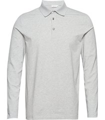 m. luke lycra polo shirt polos long-sleeved grå filippa k