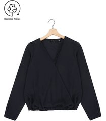 blusa azul oscuro vero moda