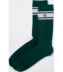 river island mens green rr stripe socks