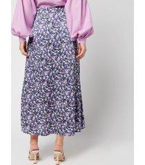 résumé women's charlee skirt - purple - dk 42/uk 12