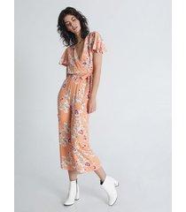pantalón culotte estampado en flores