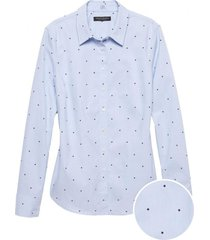 blusa riley star conversational celeste banana republic