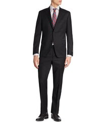 saks fifth avenue men's collection by samuelsohn classic-fit wool suit - charcoal - size 42 l