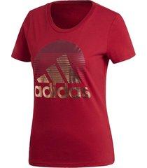 camiseta adidas w mh foil  bordô