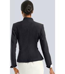 kavaj alba moda svart::vit