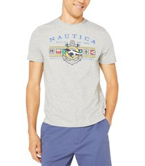 nautica men's big & tall colored flags graphic t-shirt