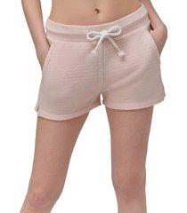 marc new york performance women's beach fleece drawstring shorts - peach - size s