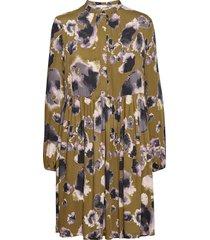 carli dress printed knälång klänning grön soft rebels