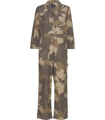 irene boilersuit jumpsuit groen wood wood