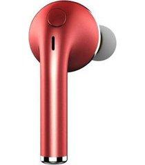 audifonos bluetooth, v1 auriculares inalámbricos v4.1 auricular audifonos bluetooth manos libres  auriculares de deportes oído-gancho auricular con micrófono para todos los teléfonos (rojo)