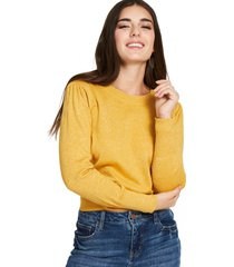 sweater con brillos amarillo nicopoly