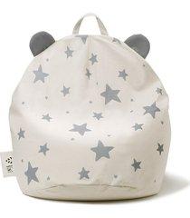 puf bini with stars grey