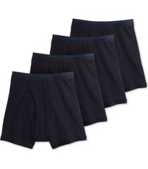 jockey men's 3-pack + 1 bonus classic cotton boxer brief