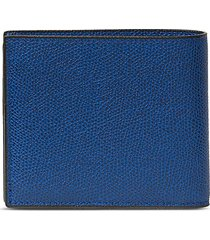 leather bifold wallet - royal blue