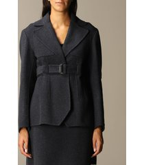 sportmax blazer ethiopia sportmax blazer in wool and cashmere with belt