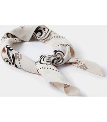 river island womens cream paisley print square scarf