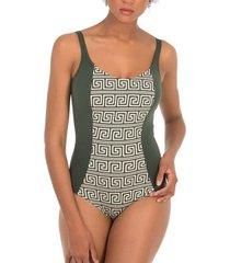 badpak selmark 1-delig zwempak halslijn laberinto mare vert