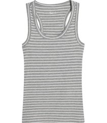 camiseta descanso mujer m/s rayas color gris, talla l