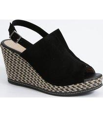 sandália feminina open boot plataforma