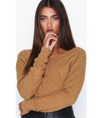 noisy may nmmeryl l/s v-neck knit stickade tröjor