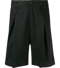 ann demeulemeester alfred pleated shorts - black
