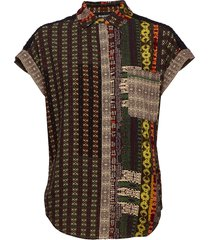 cam pavia kortärmad skjorta multi/mönstrad desigual