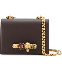 alexander mcqueen knuckle duster crossbody bag - purple