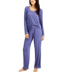 alfani knit pajama set, created for macy's