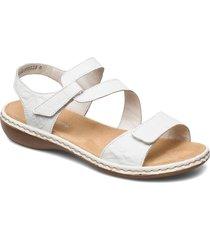 659c7-00 shoes summer shoes flat sandals vit rieker