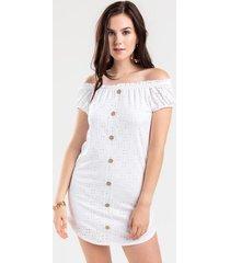 sofia off the shoulder mini dress - white