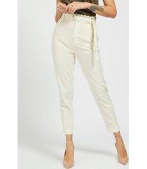 spodnie z paskiem fason regular