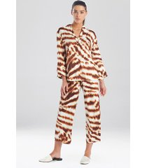 ethereal tiger satin sleep pajamas & loungewear, women's, size l, n natori