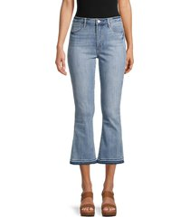 articles of society women's london cropped flare jeans - blue - size 26 (2-4)