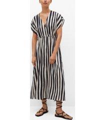 mango women's striped flared dress
