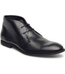 leather boot desert boots snörskor svart lindbergh