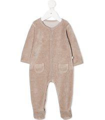 absorba ribbed long-sleeved pajama - neutrals