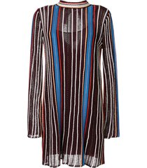 m missoni striped tunic dress - purple