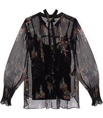 'lara' floral-printed shirt