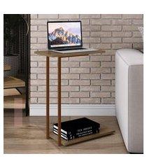 mesa lateral artesano steel quadra vermont e cobre