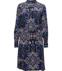 lucia dress kort klänning blå soft rebels