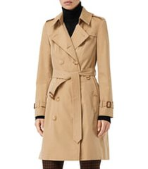 women's burberry the chelsea slim fit heritage trench coat, size 14 - yellow