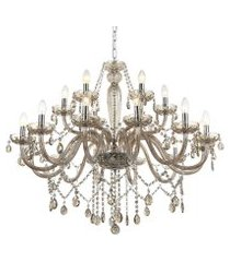 lustre candelabro de cristal maria tereza 18 braços - âmbar