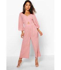 kimono sleeve culotte jumpsuit, rose